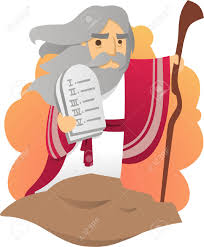 moses with the tablets of the law of god royalty free cliparts