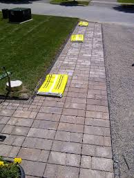 widening a driveway with pre cast patio stones home garden and