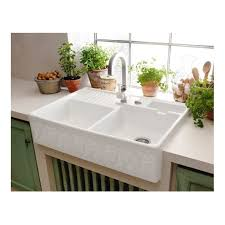 Villeroy  Boch Butler  Mm X Mm White Pearl Design Double - Sit on kitchen sink