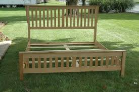 custom made ca king mission bed frame by wooden it be nice