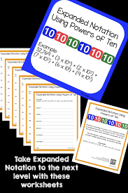 expanded notation using powers of ten worksheets expanded