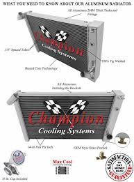1972 corvette radiator chion cooling 3 row aluminum radiator for 1969 1972 corvette