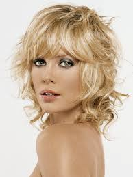 shoulder length curly haircuts with bangs hair styles
