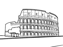 colosseum biggest amphitheater anciet rome coloring
