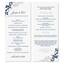 tea length wedding program template wedding program template instant edit wording chic