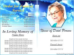 stunning free funeral program templates for word pictures resume