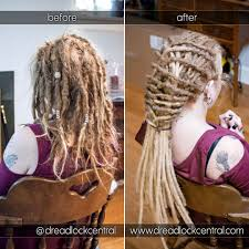 installing extension dreads in short hair dreadlock salon washington dc baltimore md northern va
