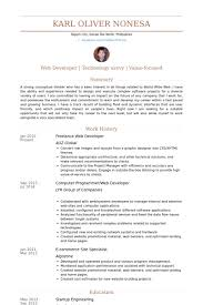 resume programmer freelance web developer resume samples visualcv resume samples