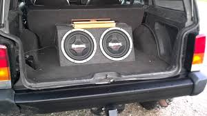 jeep wagoneer trunk black 1999 jeep cherokee with subs youtube