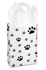 paw print tissue paper small paw print gift bag