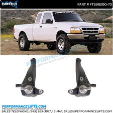ford ranger with a lift kit fabtech lift spindles fts98200 73 fits 2001 2009 ford ranger