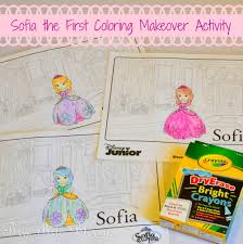 sofia the first coloring makeover activity brie brie blooms