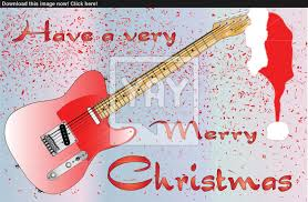 a rock guitar card with merry text message