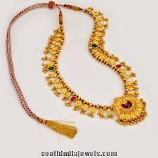 style gold necklace images Maharashtrian style gold necklace south india jewels jpg