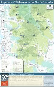 Washington Highway Map by North Cascades Wilderness Map Wilderness Org