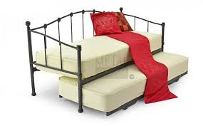 metal beds paris 2ft6 75cm small single underbed black bed frame