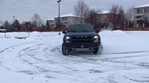 Ford Raptor Truck Cap - 2017 ford raptor does doughnuts in the snow youtube