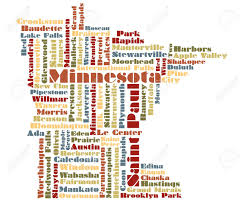 Austin Mn Map by Abstract Word Cloud Map Of Minnesota State Royalty Free Cliparts