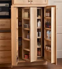 Kitchen Pantry Cabinet Furniture Magnificent Brown Color Wooden Kitchen Pantry Cabinets Features