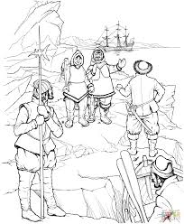 eskimo meets first explorers of north america coloring page free