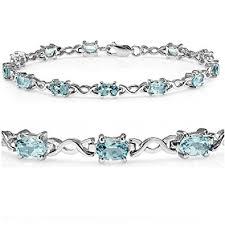 blue topaz bracelet images Sky blue topaz infinity tennis bracelet set in jpg