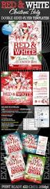 red and white christmas party flyer templates startupstacks com