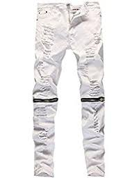 Mens Destroyed Skinny Jeans Amazon Com White Jeans Clothing Clothing Shoes U0026 Jewelry