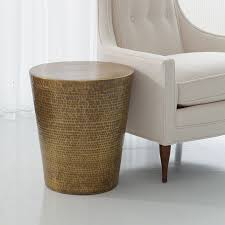 Brass Side Table Global Views Products Izmir Hammered Brass Side Table