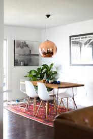 Dining Room Lamps by Eames Chairs At The Dining Table Interior Inspiration