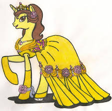 mlp fim disney princess belle coopergal24 deviantart