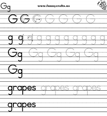 letter g handwriting worksheets for preschool to first grade