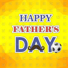 happy father u0027s day poster on a yellow polygonal background vector
