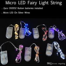 newest cr2032 battery operated 2m 20leds micro led string
