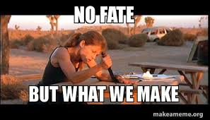 Make A Meme Poster - no fate but what we make make a meme