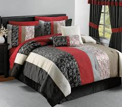 red black and white queen comforter set awesome bed black and red