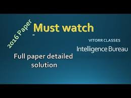 solution bureau intelligence bureau 2016 paper paper detailed solution in