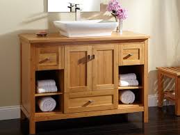 Rustic Bath Vanities Rustic Bathroom Storage Include Towels In The Wooden Bathroom