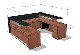 Diy Reception Desk Standard Reception Desk Height Desk Design Ideas