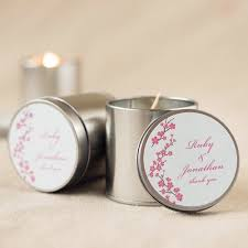 personalized candle favors personalized travel candle tins