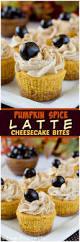 pumpkin spice latte cheesecake bites inside brucrew life