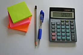 sticky notes click pen pencil and desk calculator free image