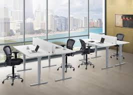 Pneumatic Height Adjustable Desk by Electric Height Adjustable Tables Source Office Furniture