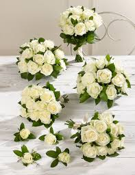 White Wedding Bouquets Creamy White Luxury Rose Wedding Flowers Collection 3 M U0026s