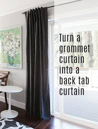 Tab Curtains Pattern How To Turn A Grommet Top Curtain Into A Back Tab Curtain Tab