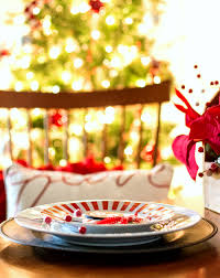 Christmas Table Setting Ideas by Holiday Table Setting Idea Red White Black