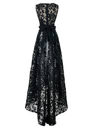new style big discount black lace sleeveless high low maxi dress