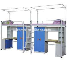 Bunk Beds With Wardrobe Guangzhou Metal Multifuntion Bunk Bed With Desk And Wardrobe