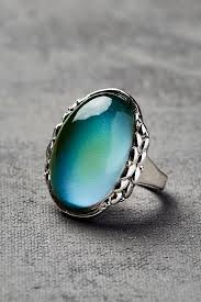 earthbound home decor burnished silver oval leaf mood ring earthbound trading co back