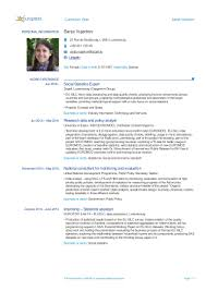 Cv For Data Analyst Cv Sanja Vujackov