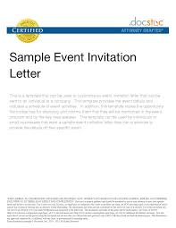 sample letter of charity charity event invitation examples